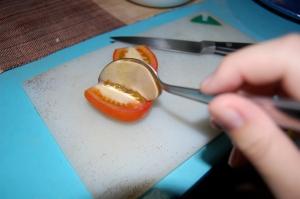 Seeding a tomato