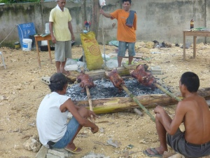 Cooking lechon