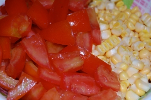 Chopped Tomatoes and Corn